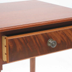 Mahogany Side Table with Mahogany Crotch Drawer Front and Cockbeading