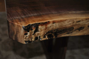 Tom Calisto- Walnut Live Edged Slab Table Detail