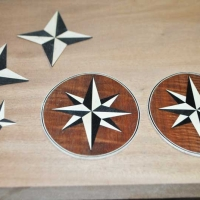 Mariner's Chest 9 Point Star ready to inlay into till
