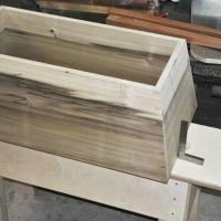 Mariner's Chest compound angle dovetails cut by hand and test fitted prior to glue up