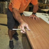 Sapele Table smoothing laying out bevels