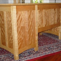 Back of Tiger Maple Desk