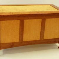 Blanket Chest with Exotic Wood Panels