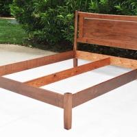 Modern Walnut Bed