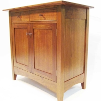 Oak and Cherry Cabinet